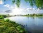 ANAR: Două utilaje amfibii curăţă vegetaţia acvatică de pe râul Dâmboviţa