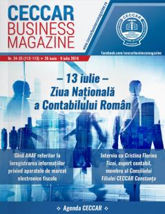CECCAR Business Magazine, nr. 24-25 / 26  iunie - 9 iulie 2018