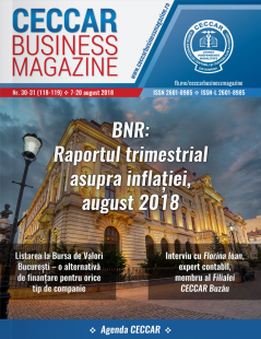 CECCAR Business Magazine, nr. 30-31 / 7-20 august 2018