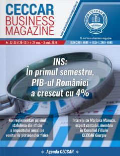 CECCAR Business Magazine, nr. 32-33 / 21 aug. - 3 sept. 2018