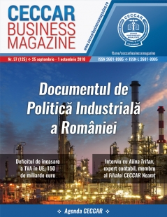 CECCAR Business Magazine, nr. 37 / 25 sept. - 1 oct. 2018