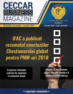 CECCAR Business Magazine, nr. 42 / 30 oct. - 5 nov. 2018