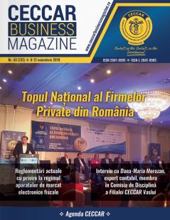 CECCAR Business Magazine, nr. 43 / 6-12 nov. 2018