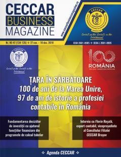 CECCAR Business Magazine, nr. 46-47 / 27 nov. - 10 dec. 2018