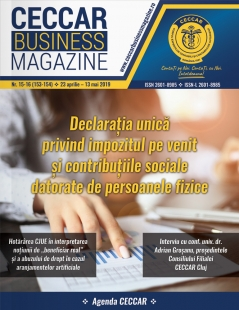 CECCAR Business Magazine, nr. 15-16 / 23 apr. - 13 mai 2019
