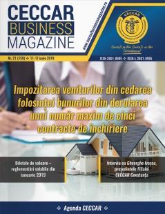 CECCAR Business Magazine, nr. 21 / 11-17 iunie 2019