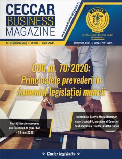 CECCAR Business Magazine, nr. 19-20 / 19 mai - 1 iun. 2020