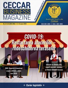 CECCAR Business Magazine, nr. 21-22 / 2-15 iunie 2020