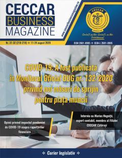 CECCAR Business Magazine, nr. 31-32 / 11-24 august 2020