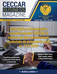 CECCAR Business Magazine, nr. 39-40 / 6-19 oct. 2020