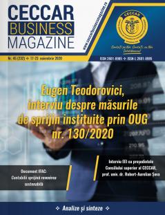 CECCAR Business Magazine, nr. 45 / 17-23 nov. 2020