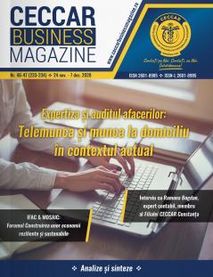 CECCAR Business Magazine, nr. 46-47 / 24 nov.-7 dec. 2020