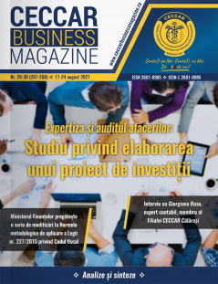 CECCAR Business Magazine, nr. 29-30 / 11-24 aug. 2021