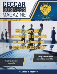 CECCAR Business Magazine, nr. 33 / 8-14 sept. 2021