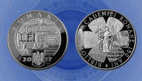 BNR a lansat o monedă de argint dedicată împlinirii a 150 de ani de la înființarea Bibliotecii Academiei Române