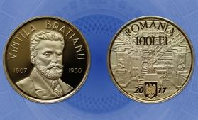 Monedă numismatică din aur: 150 de ani de la naşterea lui Vintilă I.C. Brătianu
