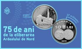 """BNR lansează o monedă de argint cu tema """"75 de ani de la eliberarea Ardealului de Nord"""""""