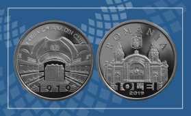 BNR a lansat o monedă din argint cu tema 100 de ani de la înființarea Operei Române din Cluj