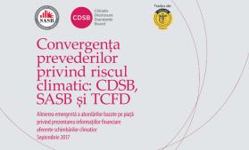 Documentul Convergența prevederilor privind riscul climatic: CDSB, SASB și TCFD, tradus de CECCAR în limba română