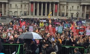 Proteste anti-austeritate la Londra