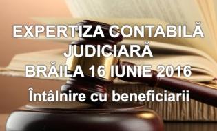 Filiala CECCAR Brăila: Întâlnire cu beneficiarii expertizelor contabile judiciare