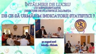 Colaborarea dintre profesioniștii contabili și Direcția Județeană de Statistică, pe masa dezbaterilor la CECCAR Ialomița
