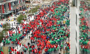 Proteste de amploare la Bruxelles față de măsurile de austeritate