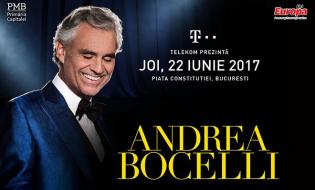 Andrea Bocelli vine luna aceasta la București și Cluj-Napoca
