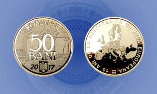 Emisiune numismatică: 10 ani de la aderarea României la Uniunea Europeană