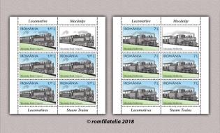 Romfilatelia: O nouă emisiune de mărci poștale – Locomotive, Mocănițe