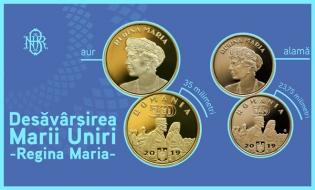 BNR va lansa monede din aur și din alamă cu tema Desăvârșirea Marii Uniri – Regina Maria
