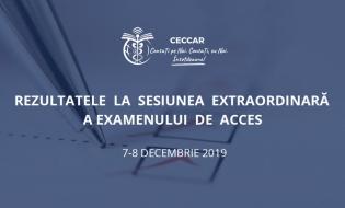 Rezultatele la sesiunea extraordinară a Examenului de acces la stagiu din 7-8 decembrie 2019