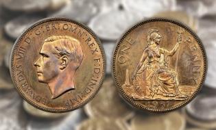 O monedă rară din aur, vândută pentru un milion de lire sterline