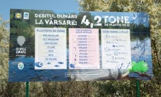 4,2 tone de plastic ajung zilnic din Dunăre în Marea Neagră
