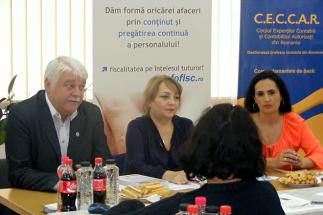 Filiala CECCAR Constanța: Întâlnire a membrilor cu reprezentanți ai AJFP