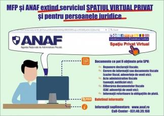Serviciul Spațiul privat virtual (SPV), extins pentru persoanele juridice