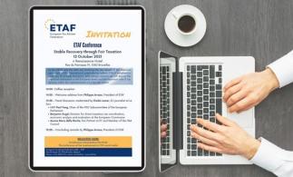 ETAF organizează conferința Recuperare stabilă prin impozitare echitabilă