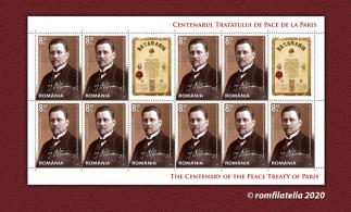 """O nouă emisiune de mărci poştale – """"Tratatele de Pace de la Paris, 1919-1920"""""""