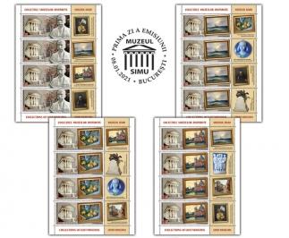 """Romfilatelia: Emisiune de mărci poştale cu tema """"Colecţiile muzeelor dispărute"""""""