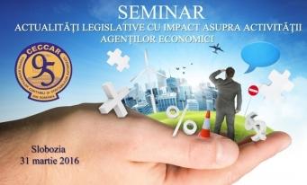 Filiala Ialomița – Actualități legislative cu impact asupra activității agenților economici