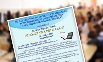 La Dâmbovița va avea loc conferința cu tema Fiscalitatea de la A la Z