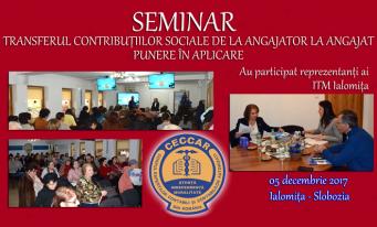 CECCAR Ialomița: Seminar pe tema transferului contribuțiilor sociale de la angajator la angajat