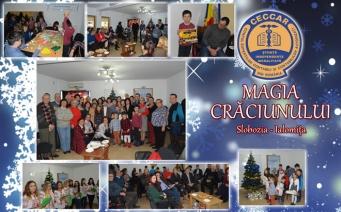 CECCAR Ialomița: Moș Crăciun, primit cu colinde