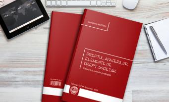 În atenția stagiarilor din anul I: A fost lansat volumul Dreptul afacerilor. Elemente de drept societar, ediția a II-a, revizuită și adăugită