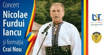 CECCAR Timiș și Universitatea de Vest: Concertul îndrăgitului interpret de muzică populară Nicolae Furdui Iancu, cadoul special pentru timișoreni în Anul Centenarului