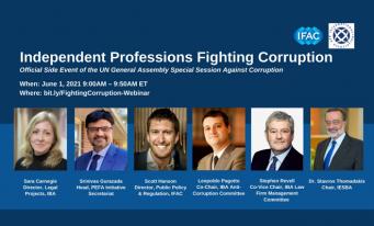 Eveniment virtual pe tema combaterii corupției, organizat de IFAC în colaborarea cu IBA