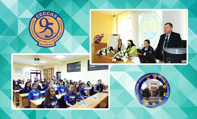 """Bacău: elevi ai Colegiului Economic au """"explorat"""" filiala CECCAR"""