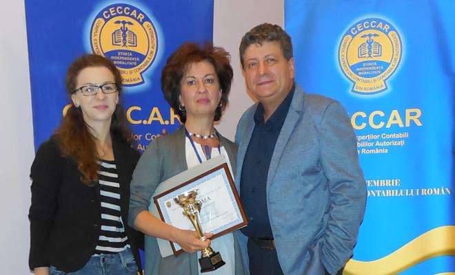 FINAUDIT – Premiul special al anului 2016 în Topul local al celor mai bune societăți membre CECCAR, filiala Vaslui