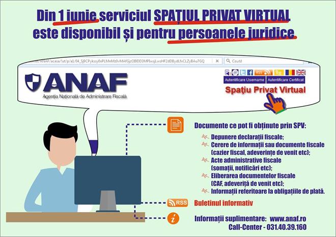 Spațiul privat virtual, disponibil de la 1 iunie și pentru persoanele juridice