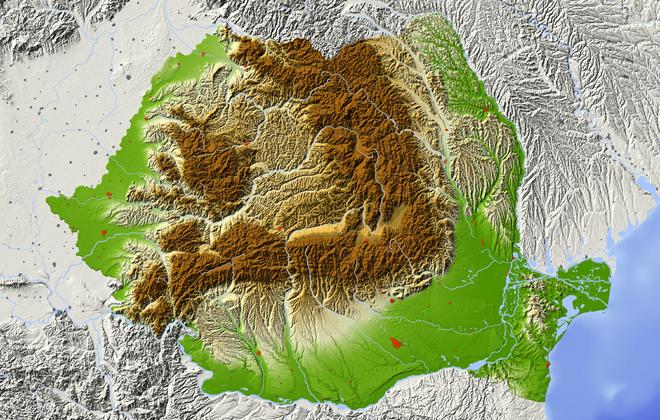 În urma unei recente actualizări realizate de ANCPI, suprafața României a crescut cu 6 kilometri pătrați